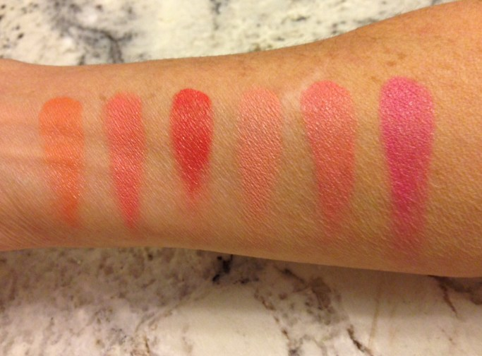 Stila convertible color lip and cheek palette swatches