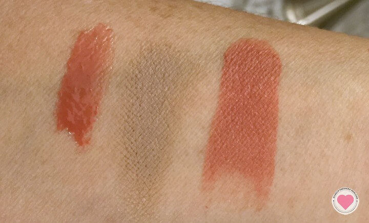 Swatches of the three products contained in the Utopia Box