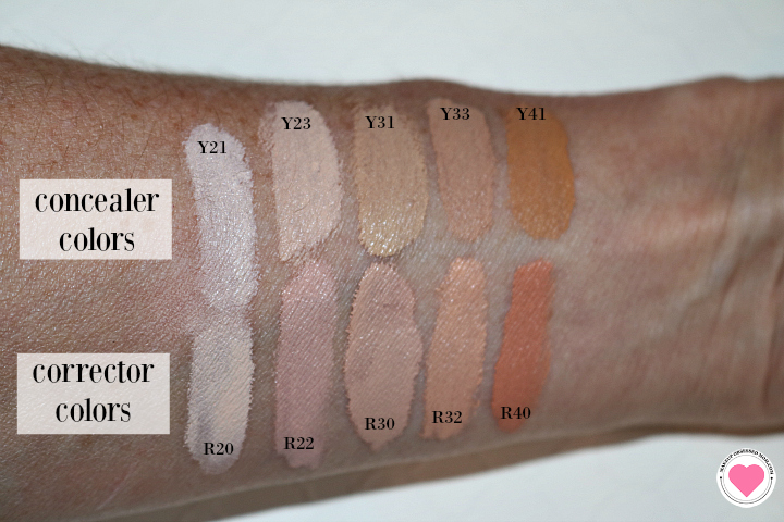 Make Up For Ever HD concealer swatches