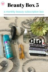 monthly beauty products box
