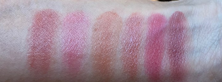 Blurred Lines lipstick swatches