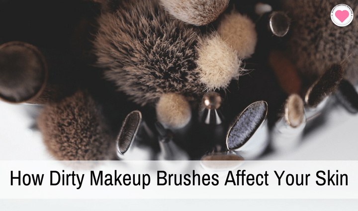 dirty makeup brushes