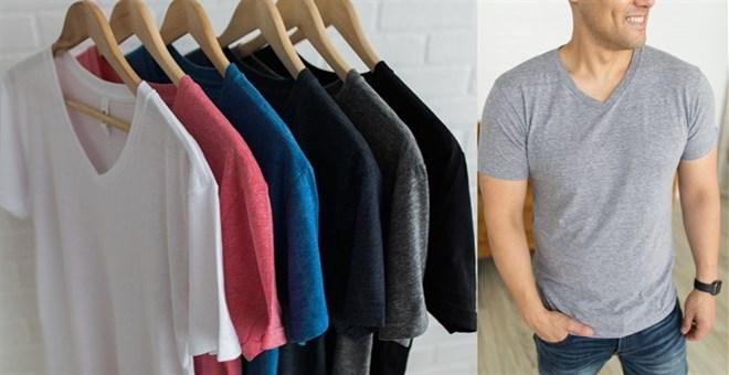 tri blend v neck tshirts