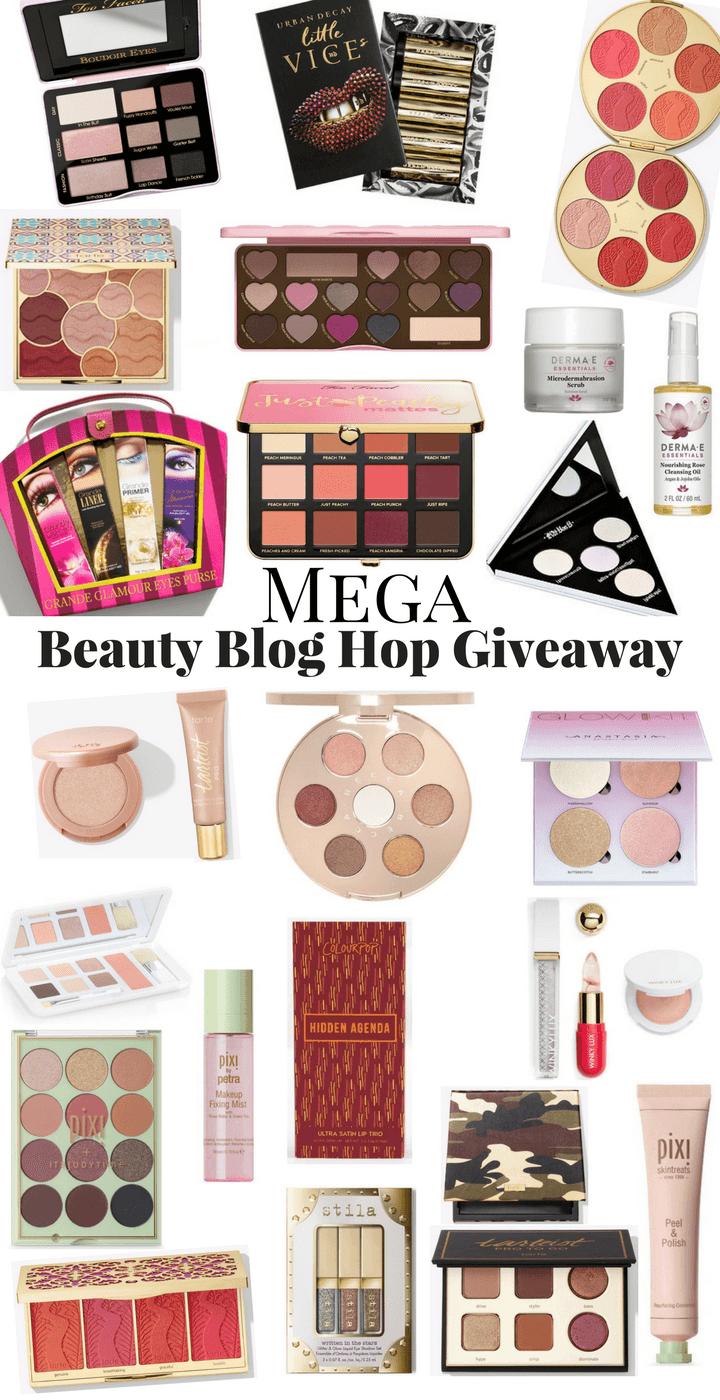 Mega Beauty Blog Hop Giveaway prizes