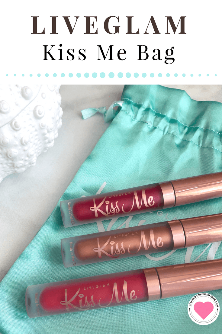 Swatches from the April Kiss Me Bag from LiveGlam on makeupobsessedmom.com