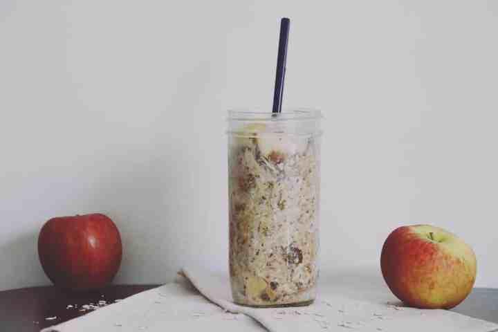 apple peanut butter overnight oats
