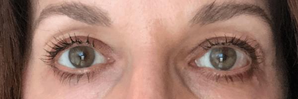 Pixi mascara on eyelashes