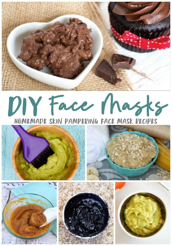DIY face mask recipes for all skin types on makeupobsessedmom.com
