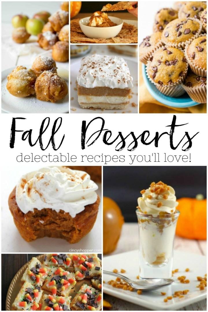 delicious Fall dessert recipes