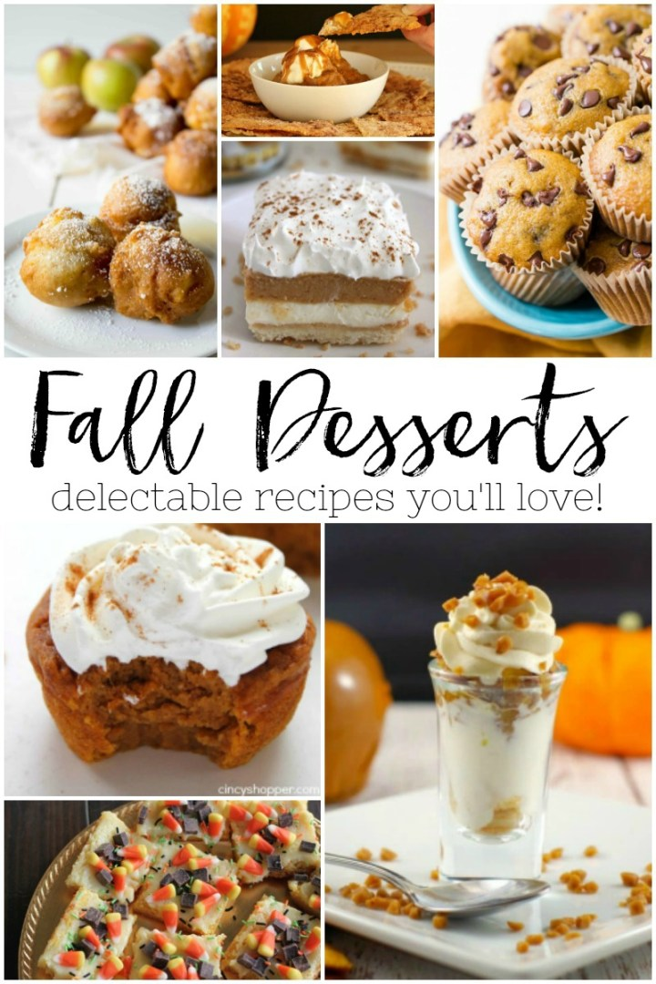 delicious Fall dessert recipes