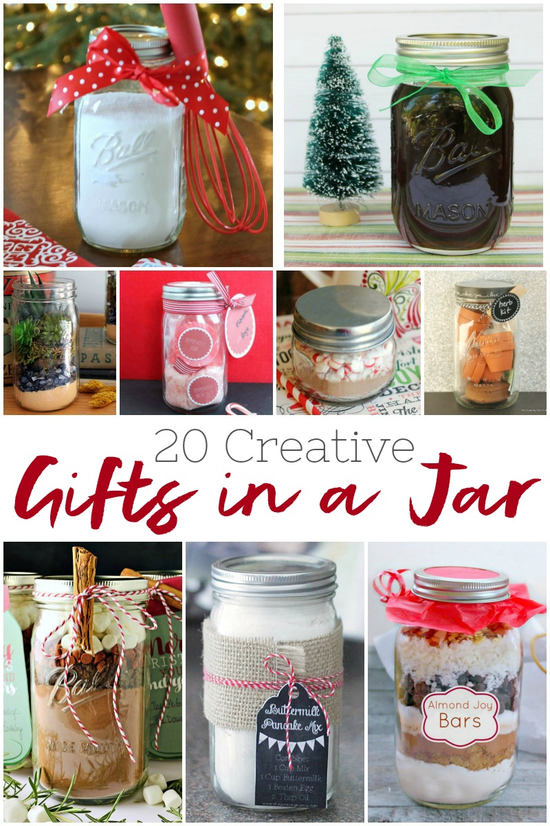 20 easy to make creative gifts in a jar for the holidays and beyond #gifts #crafts #diy