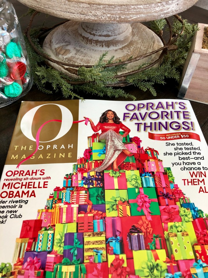 Oprah Magazine December Big Question