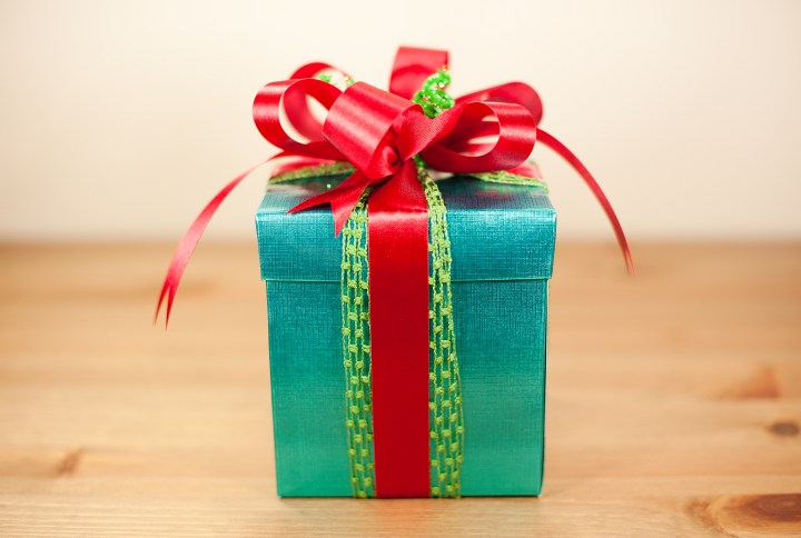 gift box wrapped in paper