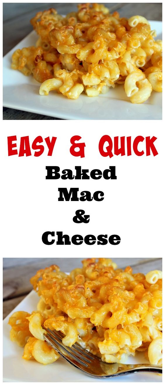 easy and quick bakes Mac n cheese