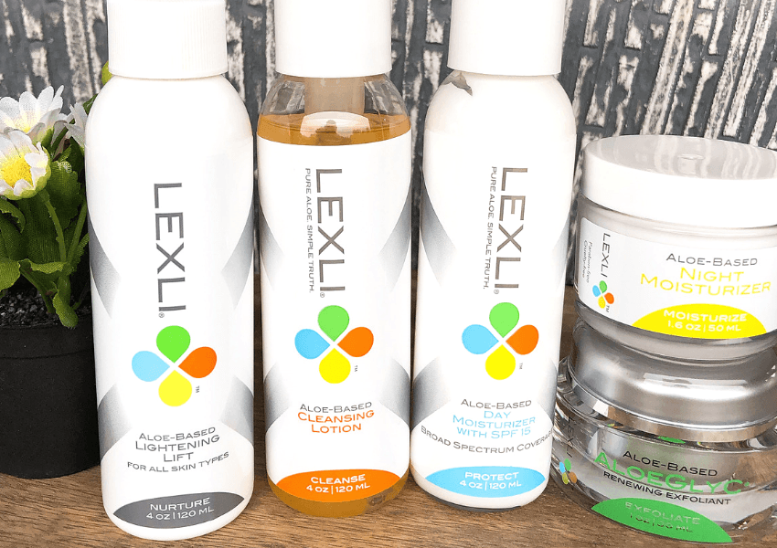 Lexli skincare products