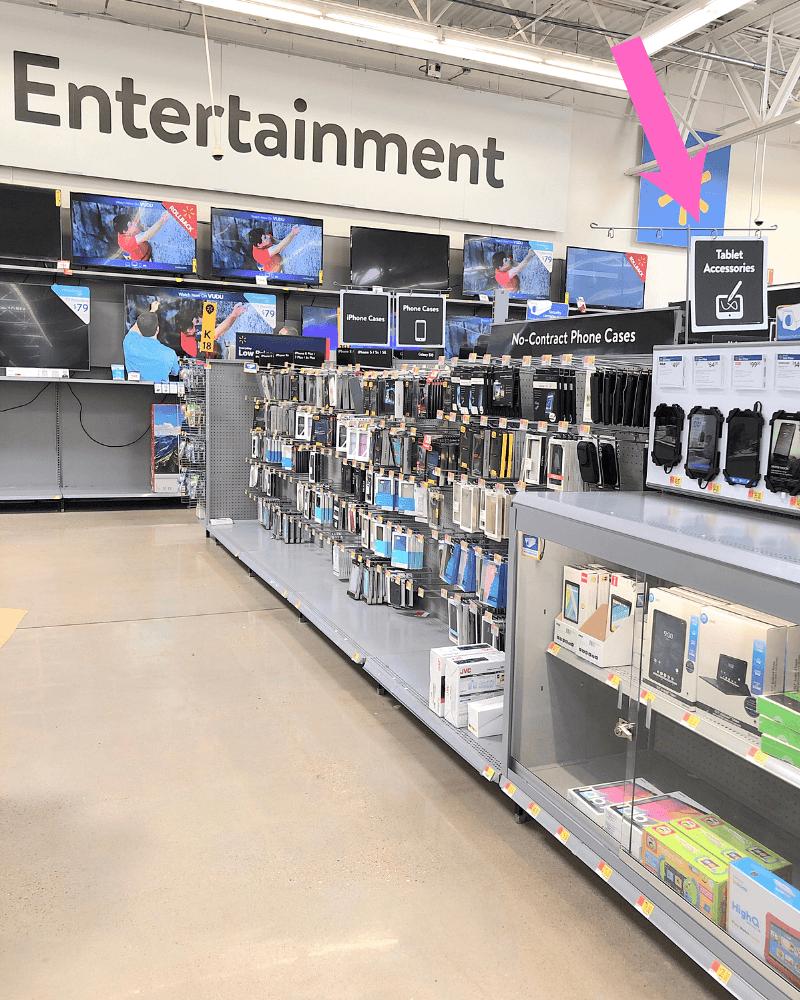 electronics at Walmart