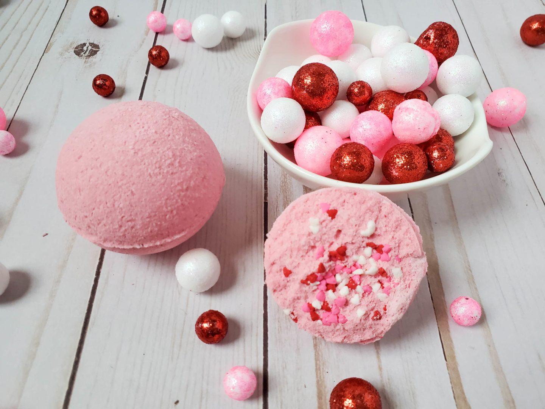 bath bombs with sprinkles