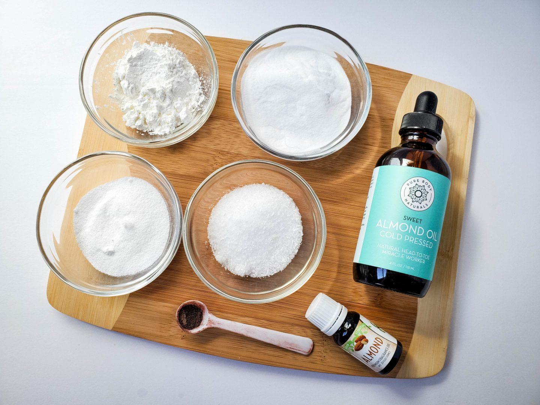almond oil bath bomb supplies
