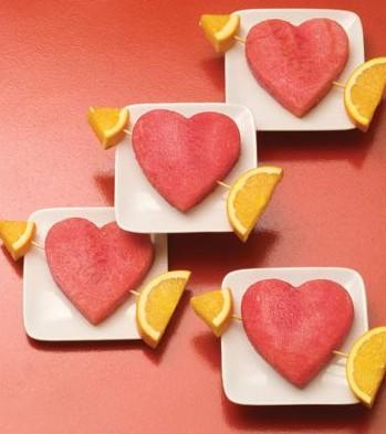 watermelon & orange hearts