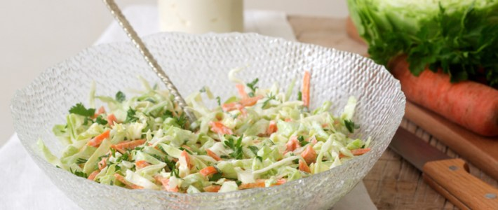 Lightly Creamy Coleslaw Recipe -A Perfect Mix of Vinegar and Mayo