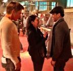 On The Set #18 - Derek, Boa, Napoleon during reshoots