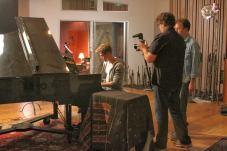 Derek Hough filming 'Let Me In' music video #1