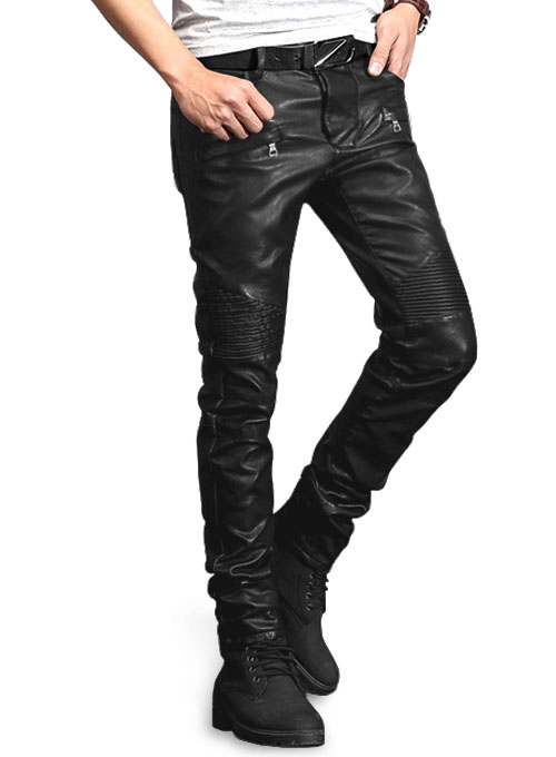 Yonex Black Stretch Faux Leather Jeans MakeYourOwnJeans