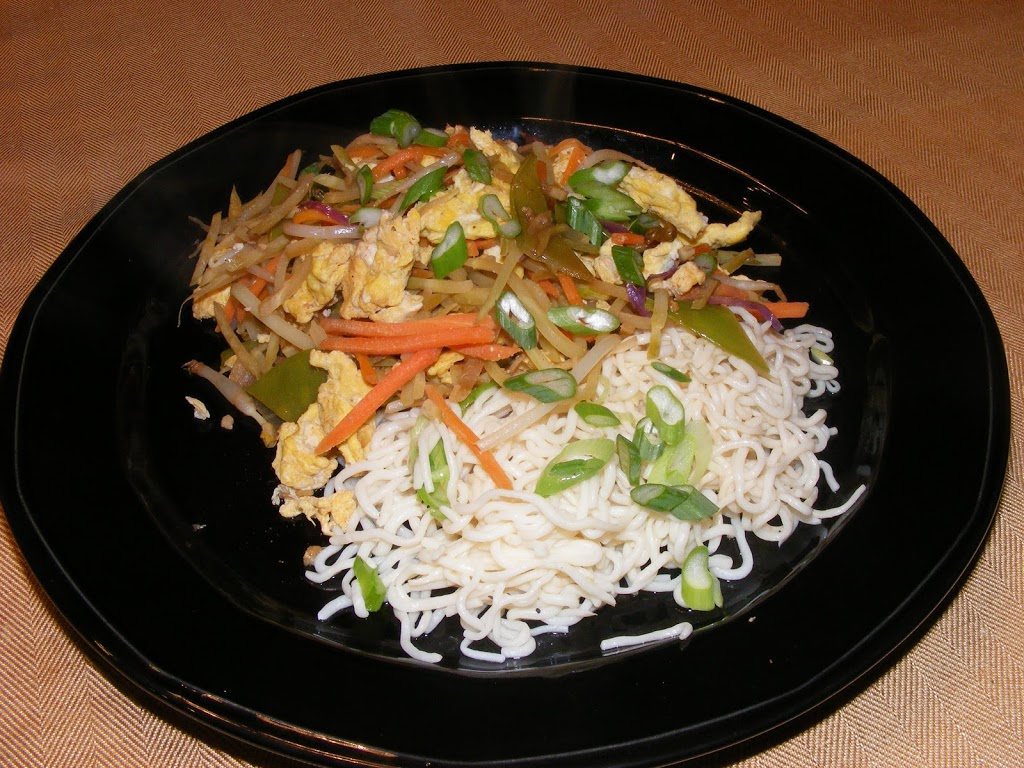 Moo Shu Vegetables on Shirataki Noodles