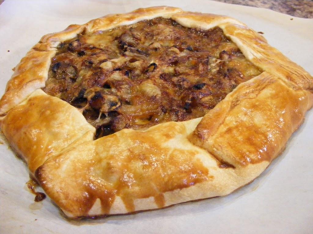 Onion-Mushroom Tart and Roasted Asparagus