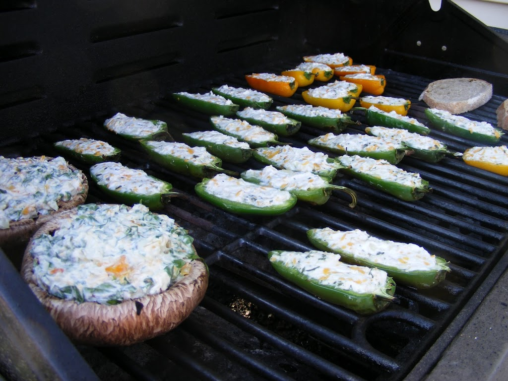 Cheese-Stuffed Portabella Caps