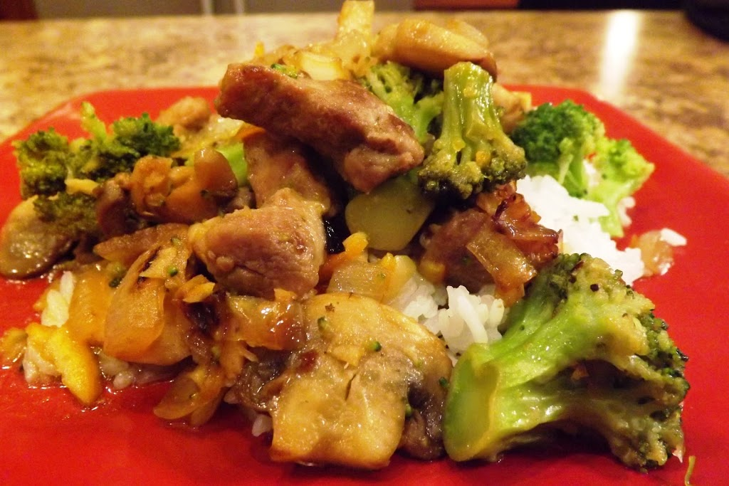 Ginger Broccoli Pork Stir Fry