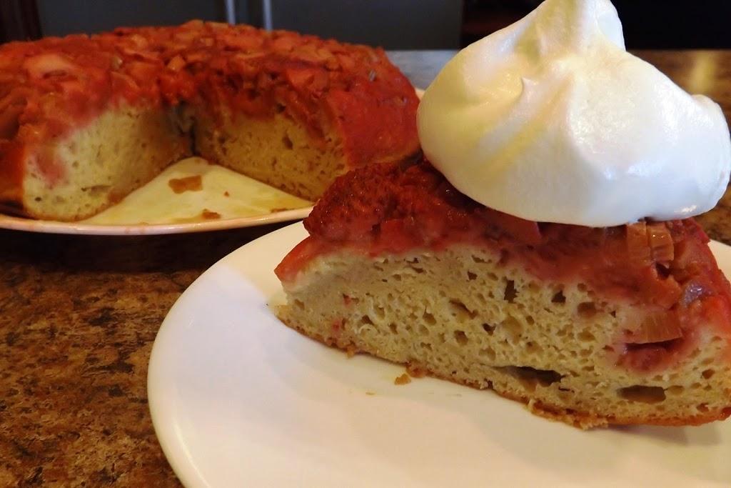 Strawberry-Rhubarb Upside Down Cake