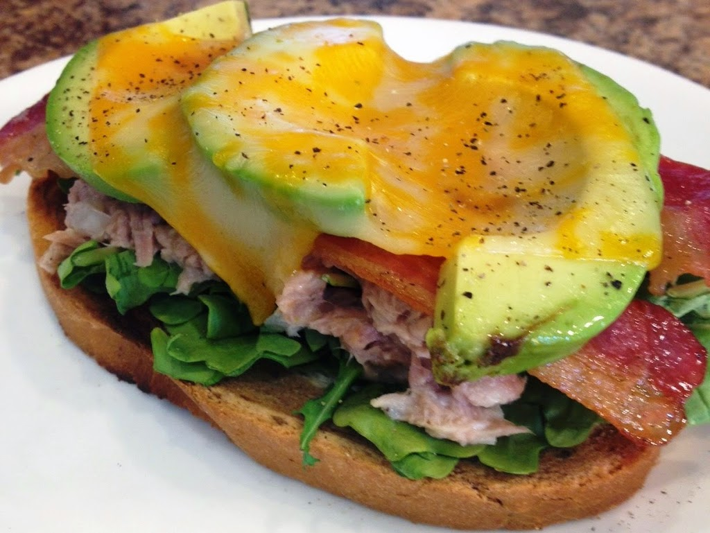 Open Faced Tuna Melt