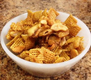 Caramel Cashew Chex Mix