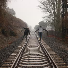 Are you walking your tracks alone or with support?
