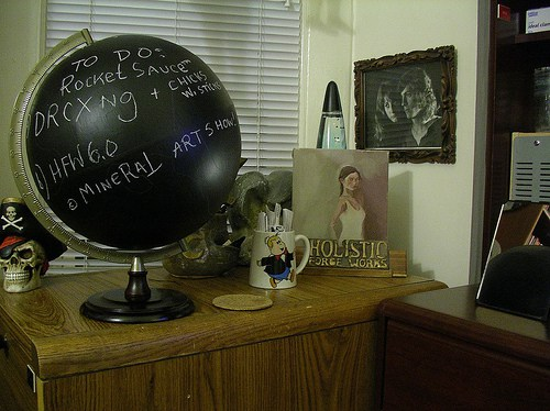 Blackboard Idea Globe