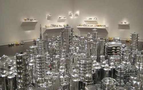 Cityscapes made from kitchen stuff…