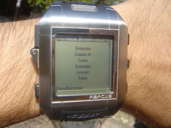 Reading websites, RSS, ebooks, text adventures, apps, games and more on a watch…