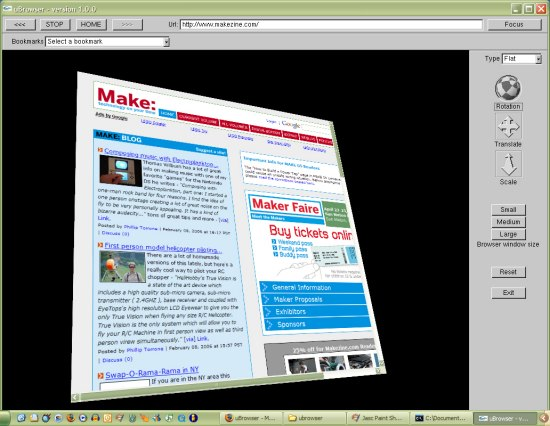 Web browser mapped on 3D objects…