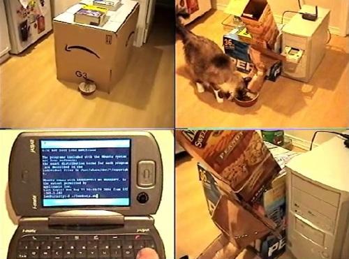Ubuntu Linux controlled DIY cat feeder and water dispenser