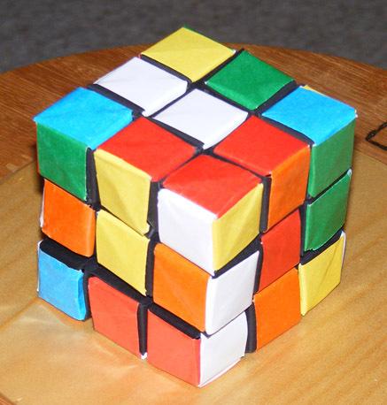 Origami Rubik's Cube Card