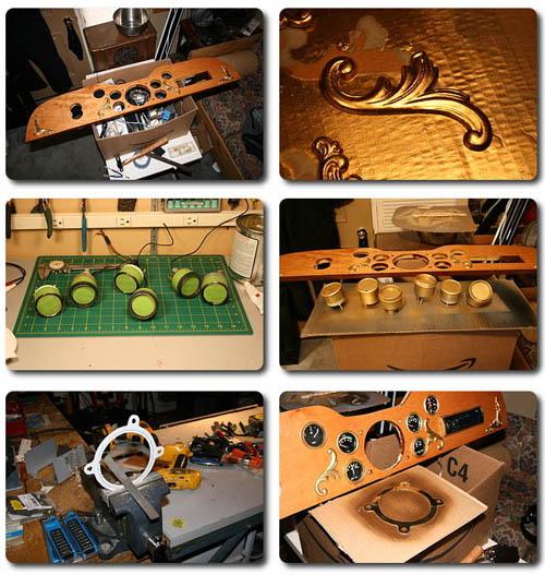 Jake's steamcar project, dashboard redo