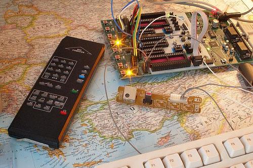 Infrared remote control receiver for Arduino