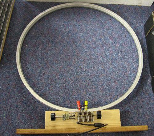 Bicycle rim antenna