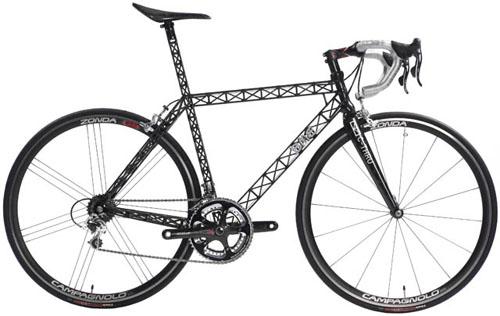Carbon C-thru bike frame