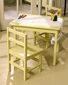 Kids' Paper Scroll Table
