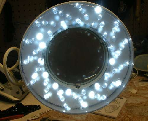 AC-powered LED benchlight