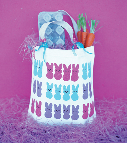 PEEPS® Printed Canvas Tote