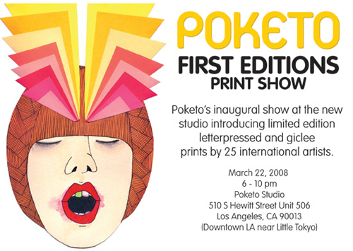 POKETO's First Editions Print Show