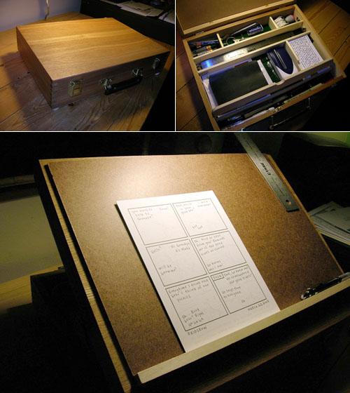 Portable drawing desk